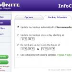 Carbonite Backup schedule