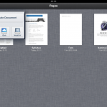 Apple Pages for Ipad overview of documents