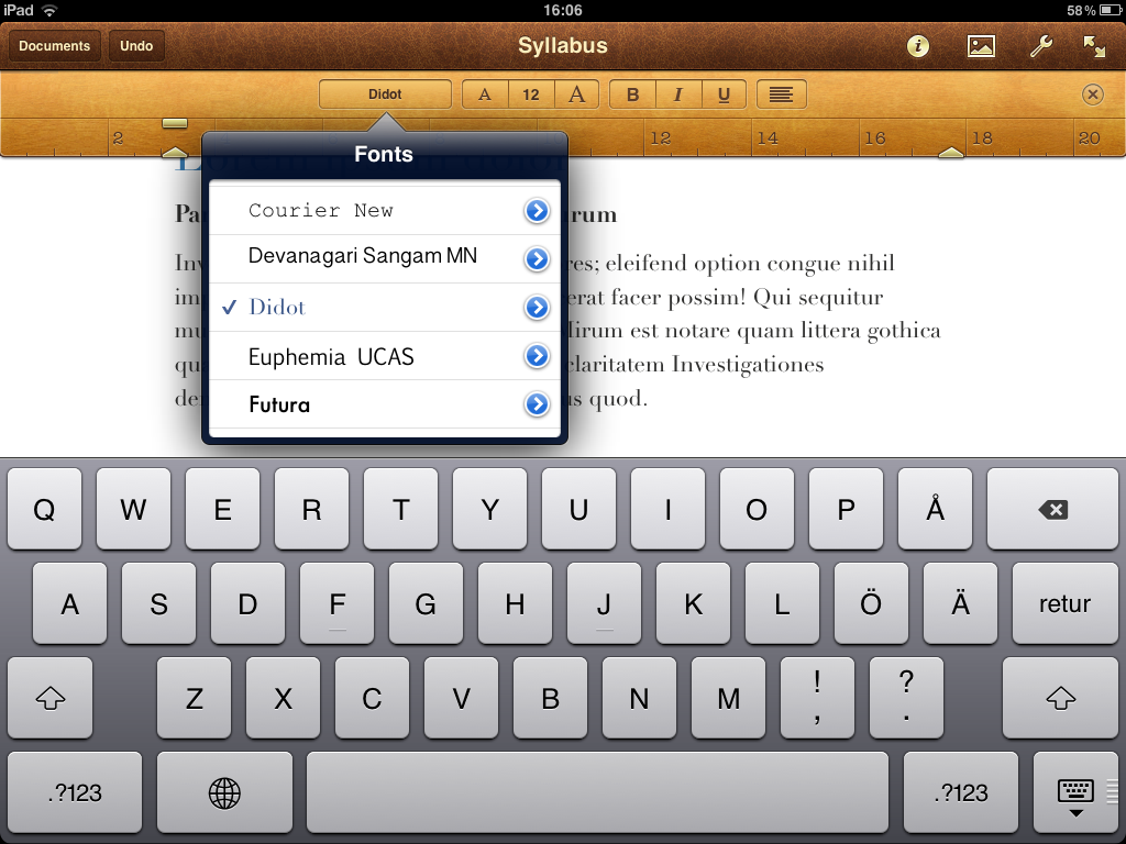Pages for Ipad - Ipad Tablet Office Suites | Syntax 3.0