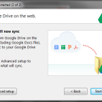 Google Drive sync installation in Windows 7