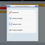 Notability features different sync options