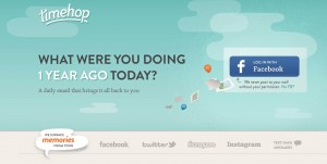 Timehop features Facebook integration.