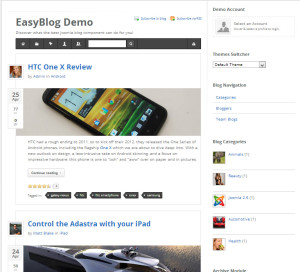 Easyblog, blog extension for Jomla
