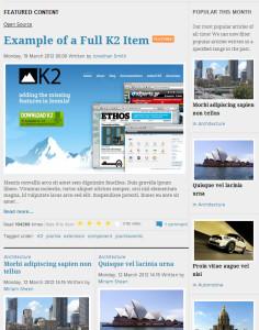 K2 for Joomla